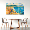Sailing Off The Beach - Colorful Artistic Framed Quality Canvas Prints - Signature Collection 02