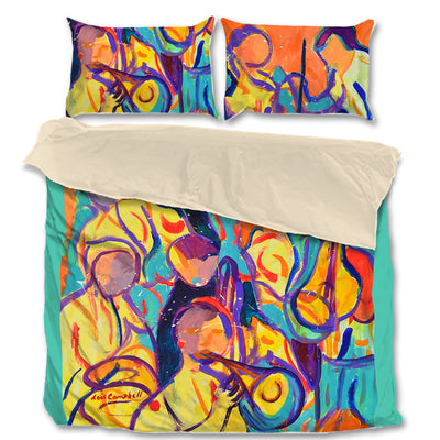 Signature Collection - Artistic Musicians Prints on King, Queen and Twin Bed Sets