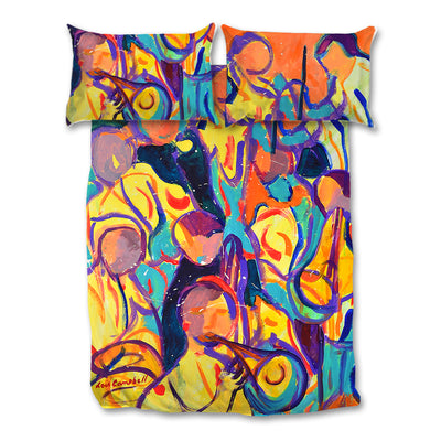 Bright, Colourful Artistic Printed Musicians Bedding Sets - Covers