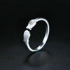 Sterling Silver Twin-Fish Ring for Women