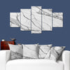 Duo-Tone Calacatta Marble Images on Large 5-Panel Canvas Photo Prints