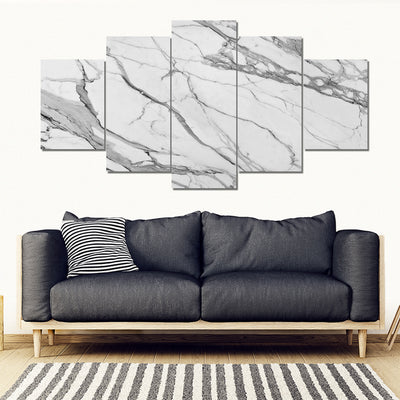 Duo-Tone Calacatta Marble Images on Large 3-Panel Canvas Photo Prints