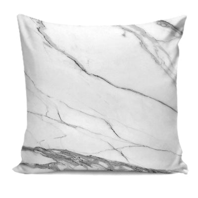 Designer-Style Calacatta Stone Printed Premium Pillow Cushion Covers
