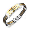 Men's Wire Rope Bracelet - Stainless Steel Cable