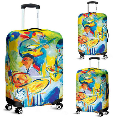 Artistic Printed Luggage Covers – Musicians Series 02 - high quality prints by Melbourne-born artist Lois Campbell, well renowned for her bright colors and bold, spontaneous strokes. Unique to MyEmporium.com - a world of style just for you