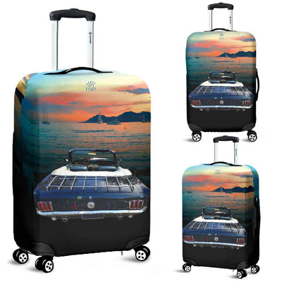 Artistic Printed Luggage Covers – Prestige Cars 02 – Mustang Convertible - high quality prints in bright, bold and vibrant colors, designed to give your luggage its own special identity. Unique to MyEmporium.com - a world of style just for you