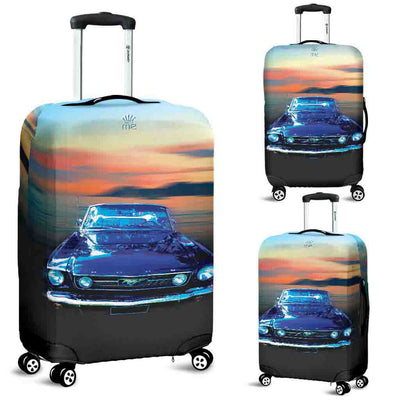 Artistic Printed Luggage Covers – Prestige Cars 06 - Mustang Convertible - high quality prints in bright, bold and vibrant colors, designed to give your luggage its own special identity. Unique to MyEmporium.com - a world of style just for you