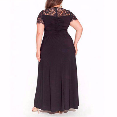 Women's Plus Size Elegant Chiffon Evening Gown