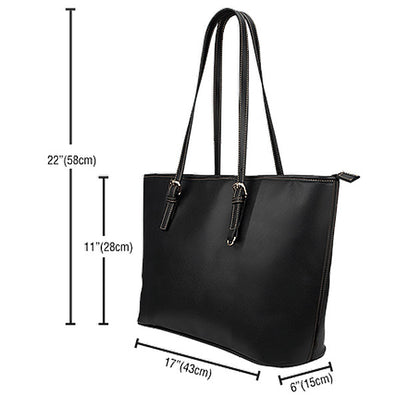 Artistic Printed Leather Tote Bags for Women – Trams Series 01