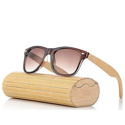 Men's Designer Sunglasses - Bamboo Wood