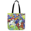 Artistic cotton tote bags – Horse Racing Series 03 - high quality prints by Melbourne-born artist Lois Campbell, well renowned for her bright colors and bold, spontaneous strokes. Only available here at MyEmporium.com - a unique world of style for you
