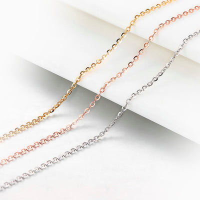 Women's Sterling Silver Necklace - Rolo Chain