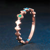 Women's Green Emerald And Rose-Gold Plated Silver Ring