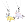 Trendy Cute Unicorn Pendant - 925 Sterling Silver Necklace