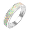 Women's Ring - White Fire Opal In 925 Sterling Silver