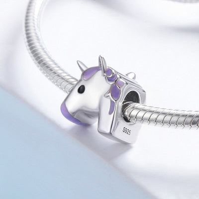 Cute high-quality 925 silver Unicorn charm