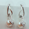 Women's Earrings - White Pearl And Crystals
