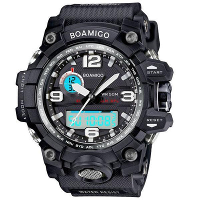 Dual Display Adventure Sports Chronograph Watch for Men
