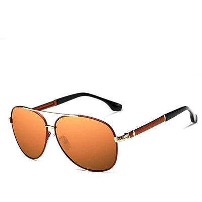 Men's Retro Pilot Polarized Sunglasses