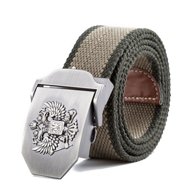 Men's Russian Military-Style Canvas Tactical Belts