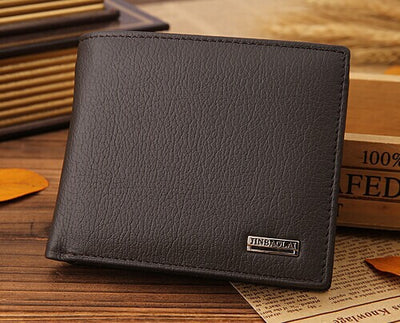Men's Bifold Slim Leather Wallet