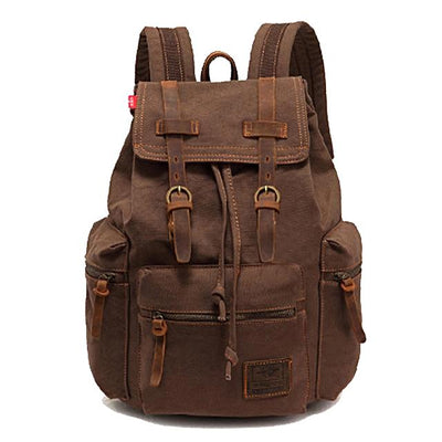 Vintage Style Canvas and Leather Backpacks for Men