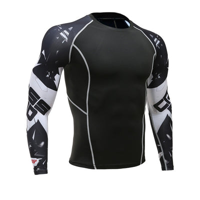 Thermal Compression Workout Tops For Men
