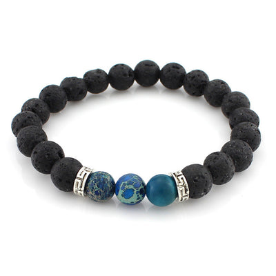 Men's Fashion Bracelets - Lava Stone Beads