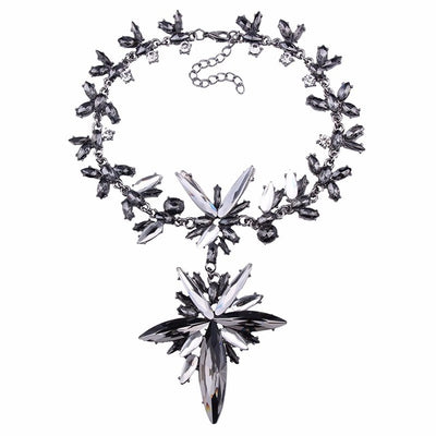 Women's Crystal Collar Choker Necklace