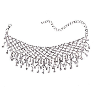 Women's Trendy Fashion Crystal Gold And Silver Choker Necklaces