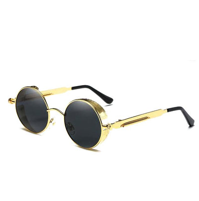 Gothic Steampunk Metal Polarized Sunglasses for Men