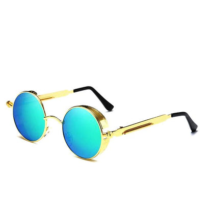 Gothic Steampunk Metal Polarized Sunglasses for Women