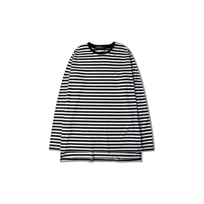 Men's Striped Cotton Long Sleeve Tees