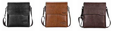 Business Style Leather Messenger Bag for Men
