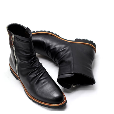Handmade Leather Boots for Men - Optional Fur-Lining