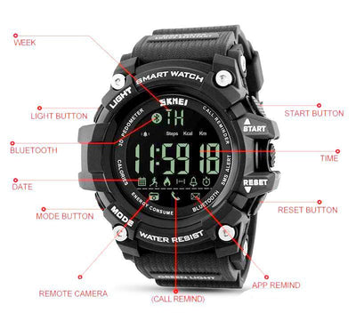 Digital Multi-Function Sports and Dive Chronograph SmartWatch For Men