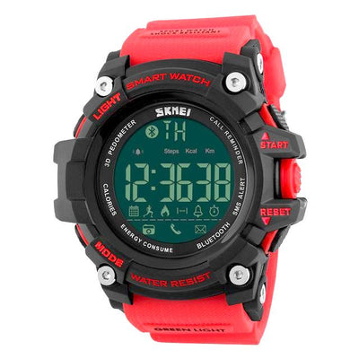 Digital Multi-Function Sports Chronograph SmartWatch with Back Light, Alarm, Dive, Chronograph, Week Display, Call Reminder, Shock Resistant, Bluetooth and Calendar