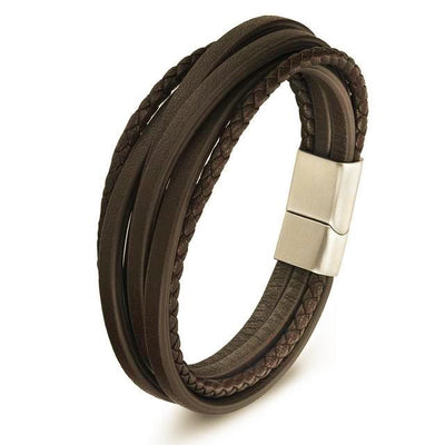 Men's Leather Bracelets- Woven And Vintage Rope