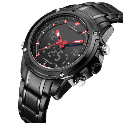 Luxury Military Style Sports Digital and Analogue Chronograph Watch - nice watches for men