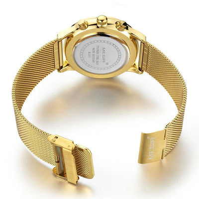 Luxury Dress Gold, Silver or Black Chronograph Watches for Men