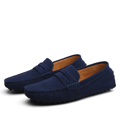 Casual Moccasin-Style Suede Leather Slip-on Shoes for Men