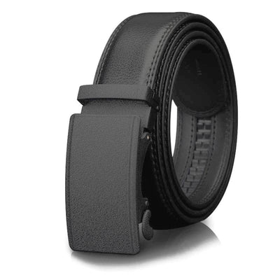 Formal Black Dress Belt and Buckle For Men