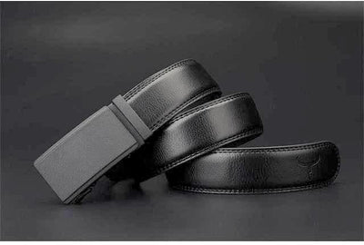 Men's Formal Dress Belt with Automatic Ratchet Buckle