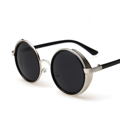 Italian Design-Inspired Vintage Round Frame Sunglasses for Men