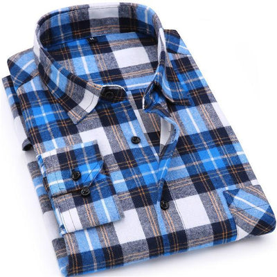 Men's Flannel Plaid Cotton Shirts