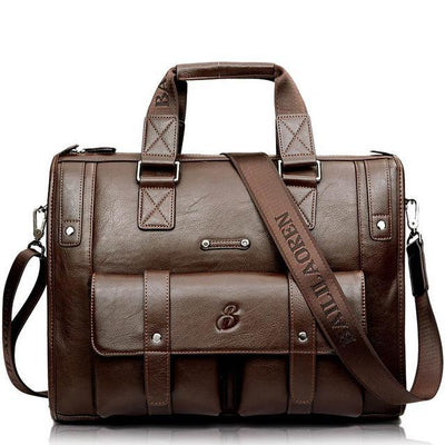 Men's Leather Satchel and Versatile Shoulder Bag