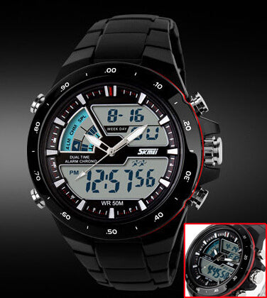 Digital & Analogue Sports Chronograph Watch for Men