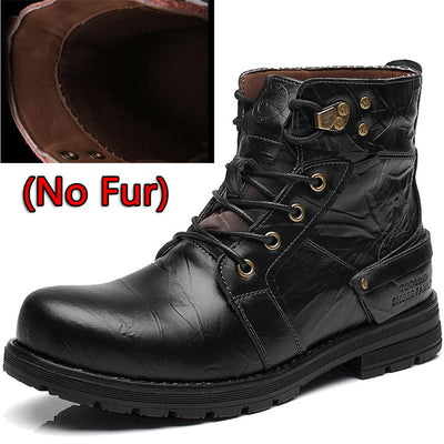 Ankle Leather Boots for Men