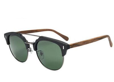 Classic Retro Wooden Designer Sunglasses for Men