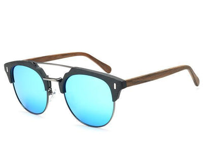 Unisex Classic Retro Polarized Wooden Sunglasses